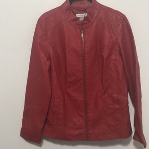 Christopher Banks Women's Red Leather Jacket